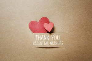 A thank you to essential workers